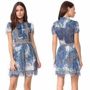 Diane Von Furstenberg Marisa Blue Silk Mini Dress